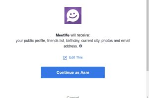 With facebook login meetme How to