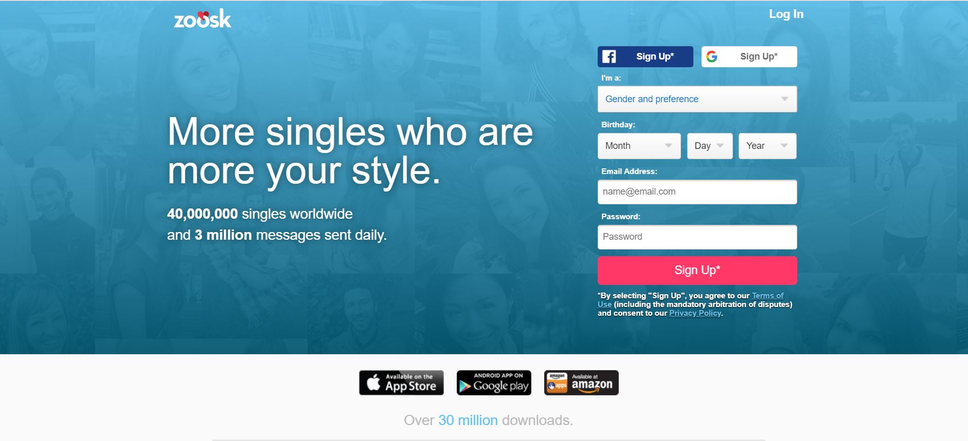 Sign up wont zoosk let me How to