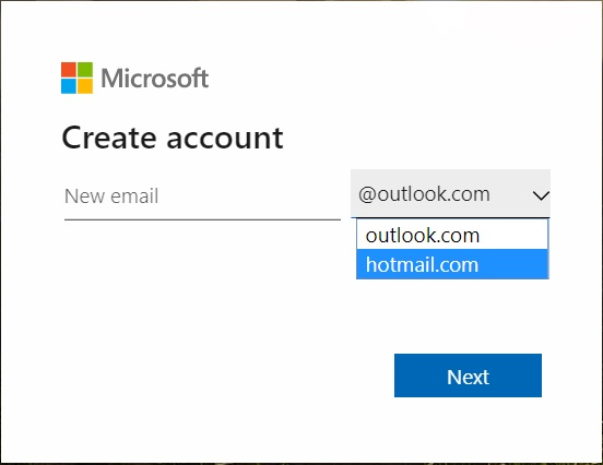 picture--of-creating-account-process-of-outlook