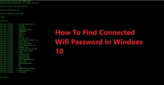 Find wifi password using command prompt