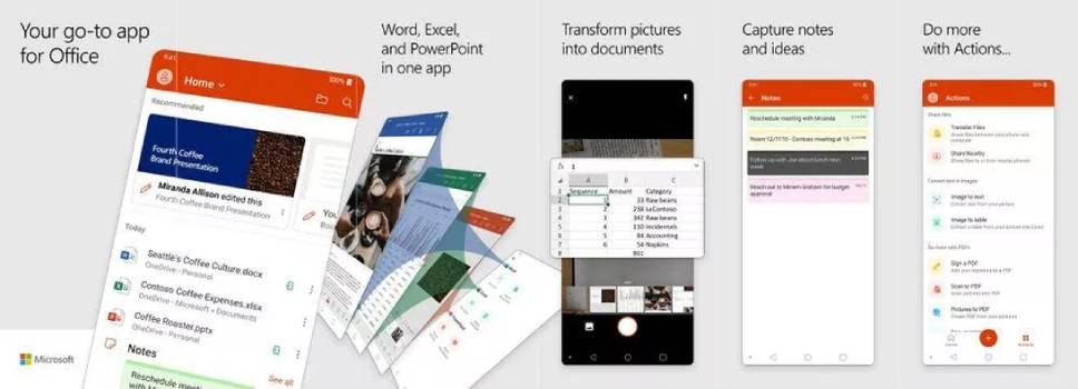 Microsoft office app for android preview
