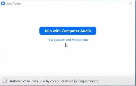 zoom host meeting join audio option
