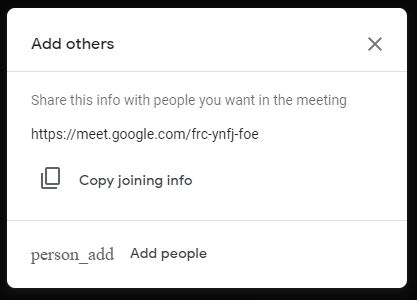 Invite and add other people to join the meeting